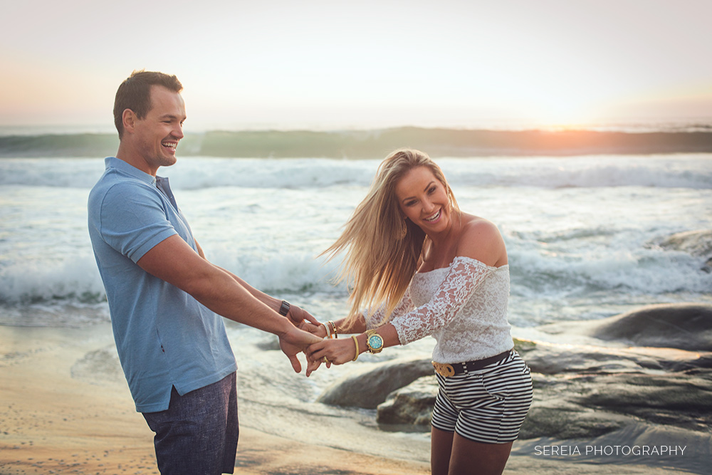 Engagement Photos San Diego at Windandsea Beach