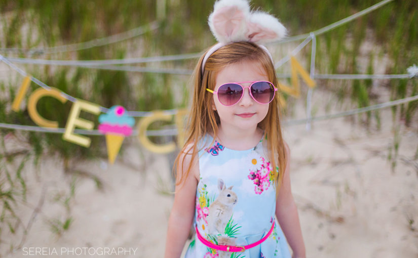 Easter Bunny Ice Cream Photo Session