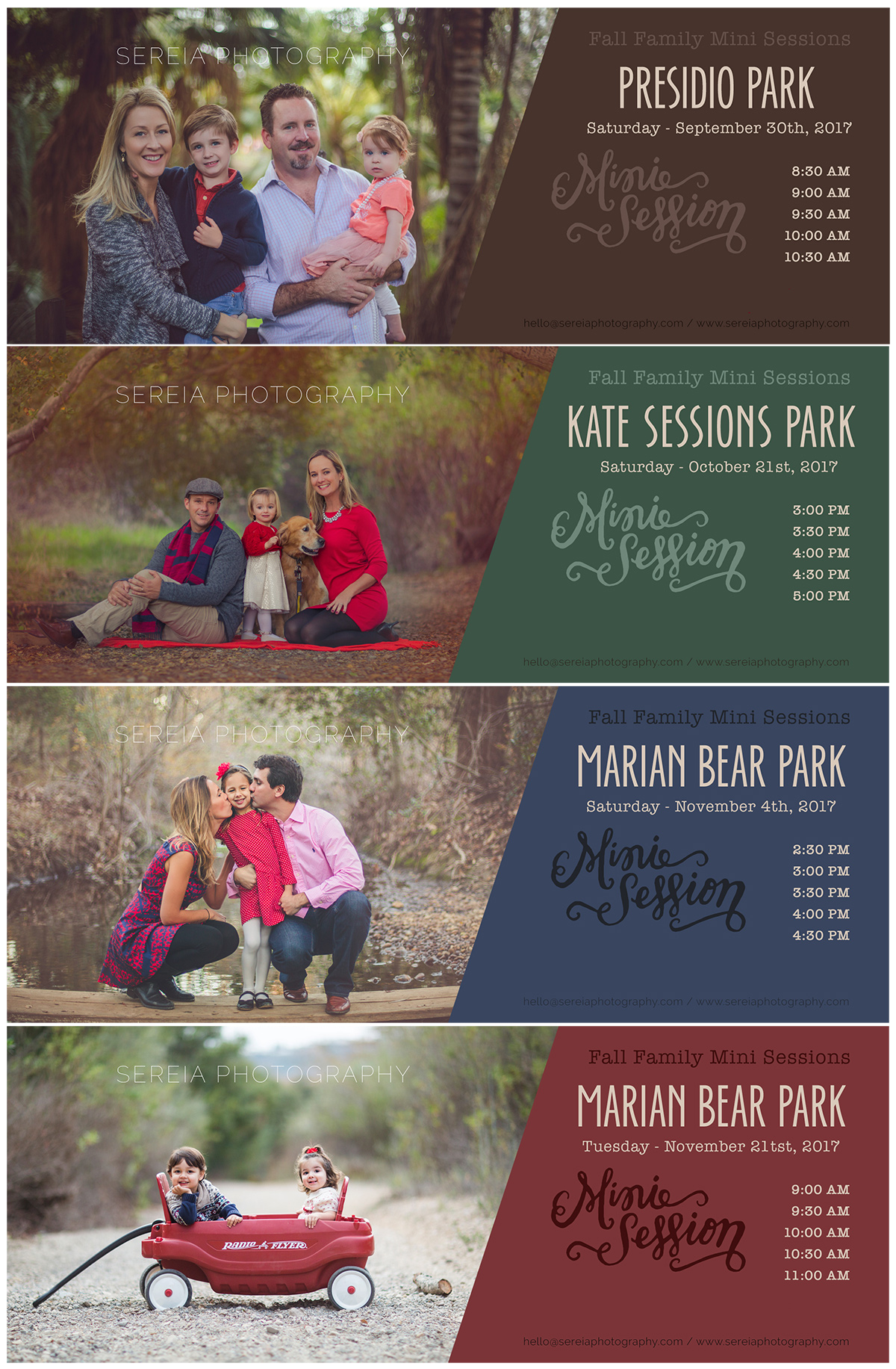 Now Booking Fall Family Mini Sessions - 2017 - San Diego