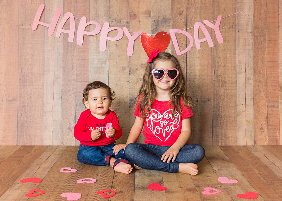 Valentine's Day Mini Session in Studio